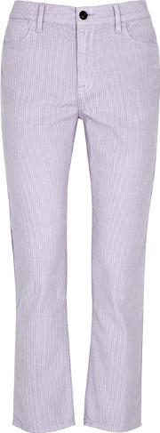 Le High Straight Lilac Corduroy Jeans