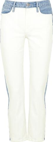 Le High Straight White Cropped Jeans