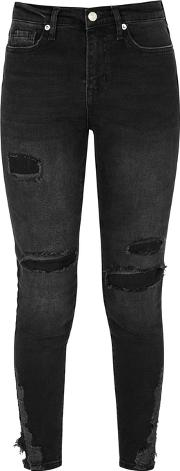 About A Girl Distressed Skinny Jeans