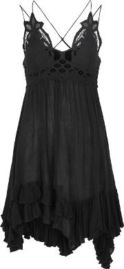 Adella Lace Trimmed Dress