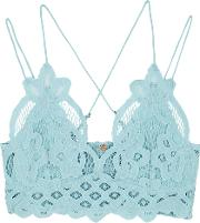 Adella Light Blue Lace Bra Top