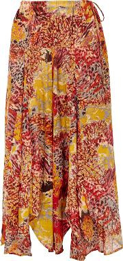 Fallon Printed Wide Leg Trousers