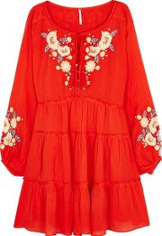 Spell On You Embroidered Rayon Dress
