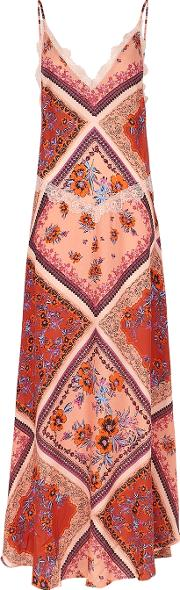 Stevie Printed Textured Weave Maxi Dress