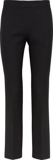 Black Slim Leg Wool Trousers