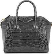 Antigona Small Crocodile Effect Top Handle Bag