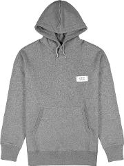 Grey Hooded Cotton Sweatshirt