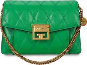 Gv3 Small Green Quilted Leather Cross Body Bag