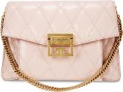 Gv3 Small Pink Quilted Leather Cross Body Bag