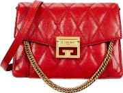 Gv3 Small Red Quilted Leather Cross Body Bag