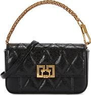 Pocket Mini Black Leather Cross Body Bag