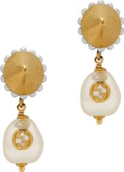 Faux Pearl Embellished Earrings