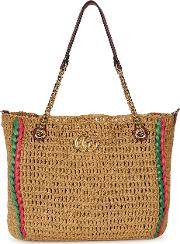 Gg Marmont Large Macrame Tote