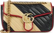 Gg Marmont Small Leather Shoulder Bag