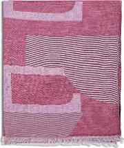H Jacquard Cotton And Cashmere Scarf