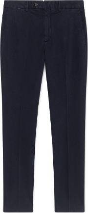 Sanderson Tailored Fit Cotton Chino Trousers
