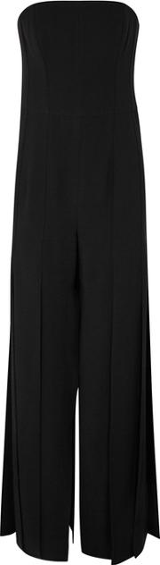 Black Panelled Strapless Jumpsuit