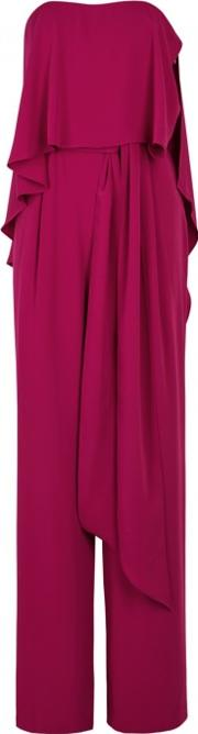 Magenta Layered Wide Leg Jumpsuit