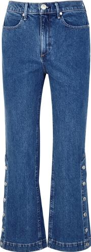Snap Dylan Cropped Kick Flare Jeans