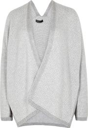 Hedy Waffle Knit Cashmere Cardigan