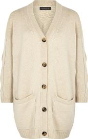 Varian Cable Knit Cashmere Cardigan