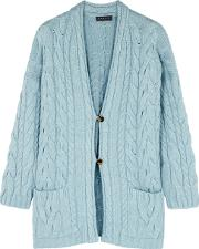 Vendee Cable Knit Cashmere Cardigan