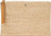 Karina Crocheted Raffia Clutch