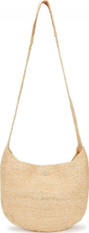 Rhode Cream Raffia Shoulder Bag