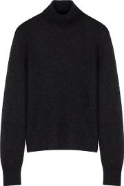 Black Roll Neck Alpaca Blend Jumper