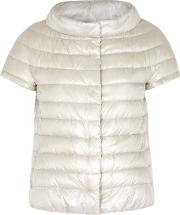 Icon Light Grey Quilted Shell Jacket