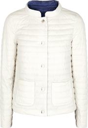 Off White Reversible Quilted Shell Jacket