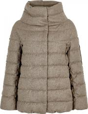 Quilted Glitter Effect Wool Blend Jacket