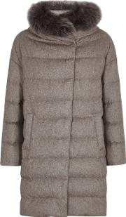 Quilted Silk And Cashmere Blend Coat