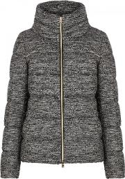 Quilted Wool Blend Boucle Jacket