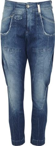 Bronco Blue Cropped Jeans Size 14
