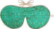 Limited Edition Turquoise Silk Eye Mask