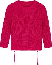 Raspberry Cotton Jumper