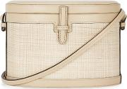 Ivory Leather Bucket Bag