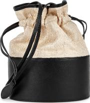 Lola Canvas And Black Leather Bucket Bag