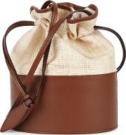 Lola Canvas And Brown Leather Bucket Bag