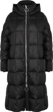 Pyramide Black Quilted Shell Parka