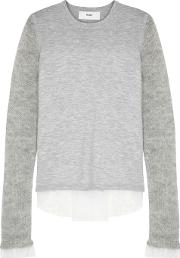 In. No Alba Lace Trimmed Wool Blend Jumper
