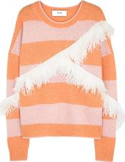 In. No Alexis Feather Embellished Alpaca Blend Jumper