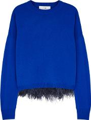 In. No Icelyn Feather Trimmed Top And Wool Blend Jumper