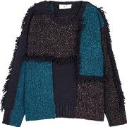 In. No Indy Patchwork Wool Blend Jumper