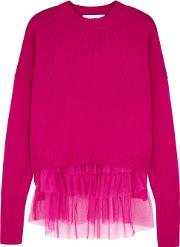 In. No Opera Ruffled Top And Wool Blend Jumper
