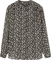 Daws Printed Lame Weave Blouse