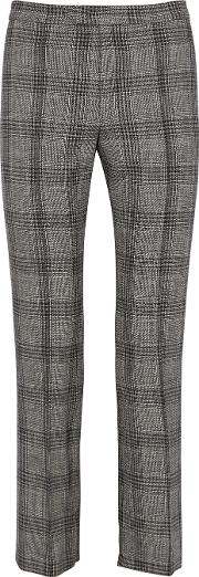 Derys Checked Cotton Blend Trousers