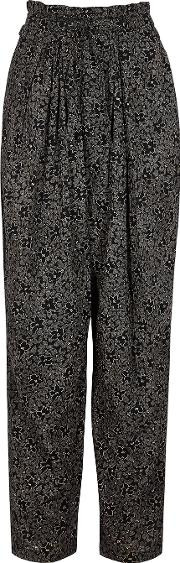 Isabel Marant Etoile Lively Floral Print Cotton Trousers