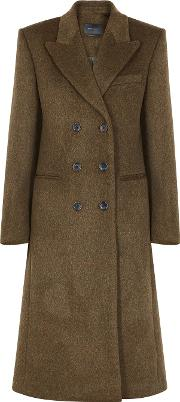 Roleen Double Breasted Wool Blend Coat